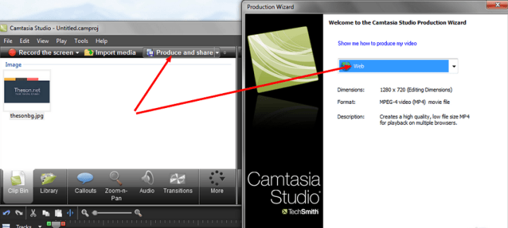 Camtasia Studio HD video web